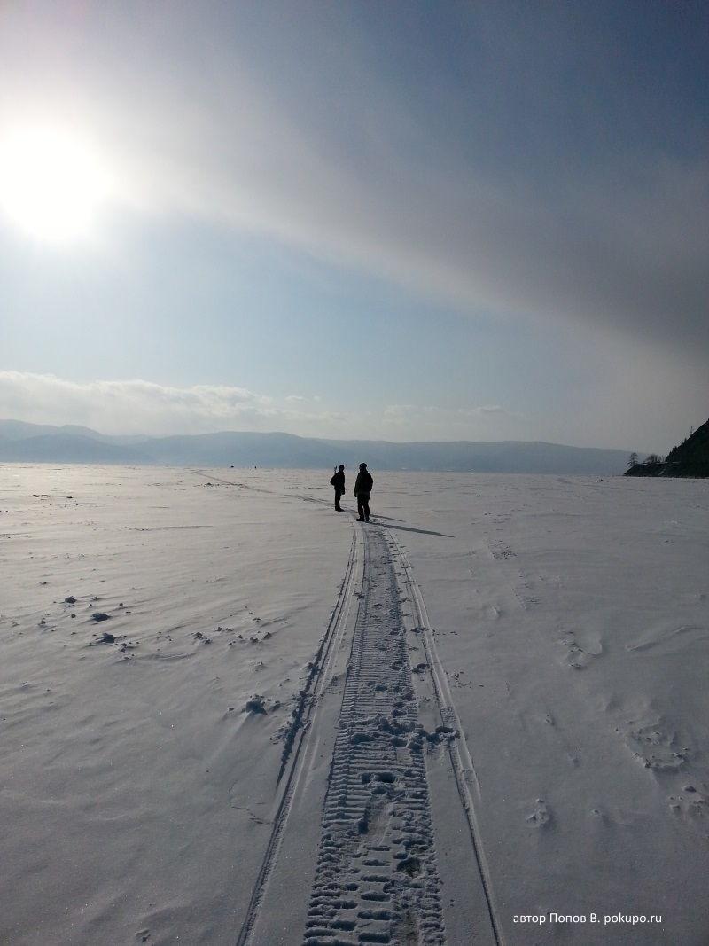 pokupo шагает по Байкалу